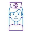 beutiful nurse avatar character vector image