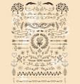 big set of vintage elements decoration vector image vector image