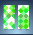 bright green geometrical modern tile banner vector image