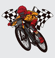 champion downhill mountain bike design vector image
