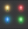 christmas holiday colorful light lamps retro vector image