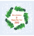 Christmas tree brunches banner vector image vector image