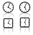 Clock icons collection vector image vector image