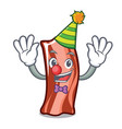 clown ribs mascot cartoon style vector image vector image