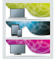 Collection banner design with smart phone tablet vector image vector image