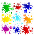 colorful paint splatters vector image vector image