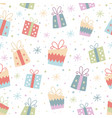 colorful seamless pattern with gifts vector image vector image