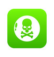 danger icon simple black style vector image