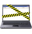 dangerous laptop vector image vector image