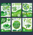 earth day banner for save planet eco concept vector image