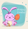 easter bunny for holiday vector image vector image
