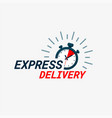 express delivery logo timer and express delivery vector image vector image