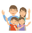 family laugh and happy vector image