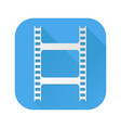film clip white sign on blue square icon vector image vector image