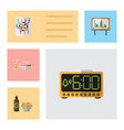 flat icon lifestyle set of beer with chips router vector image vector image