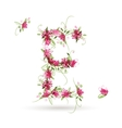 Floral letter E for your design