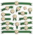 football ribbons vector image vector image