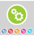 Gear settings flat icon vector image vector image