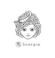 girl zodiac sign vector image vector image