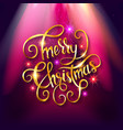 golden lettering merry christmas vector image vector image