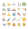 industrial and construction icons set vector image vector image