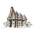 landmark indian architecture traditional vector image