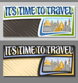 layouts for travel agency vector image vector image