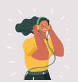 listening language skills audio book vector image