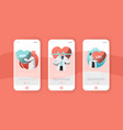 male and female cardiology doctor mobile app page vector image