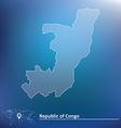 Map of Republic of Congo vector image vector image