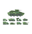 military cars war vehicles flat vector image