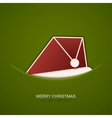 modern christmas hat on green background vector image