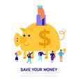 money savings flat vector image vector image