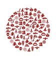 mystic icons in circle vector image vector image
