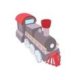 Old steam locomotive icon cartoon style vector image