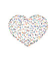 people heart sign love family icon isolated vector image