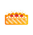 piece of delicious cake on a vector image vector image