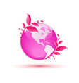 pink globe concept vector image
