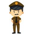 Policeman in brown uniform vector image vector image