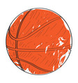 retro basketball ball vector image vector image