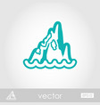 rocks in the sea outline icon summer vacation vector image vector image