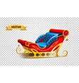 santa claus christmas xmas holiday sleigh vector image