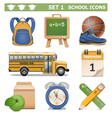 School Icons Set 1 vector image