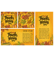 seamless pattern for thanksgiving day vintage vector image vector image