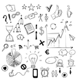 Set of business doodles elements vector image vector image