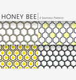 set of four seamless honeycomb patterns vector image vector image