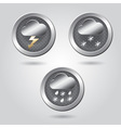 Set of stylish weather icon buttons for web vector image vector image