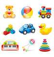 set toys vector image