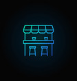 street bar blue icon - logo element in thin vector image vector image