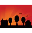 Sunset village vector image